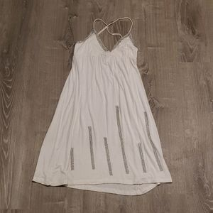 White Dress with Silver Accent